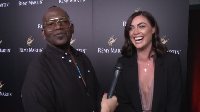 randy jackson, bec doyle on what their favorite way is to drink remy martin at rémy martin hosts a special evening with jeremy renner and fetty wap... - wap stock videos & royalty-free footage