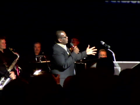randy jackson conducting the auction at the amberwatch foundation unveiling of its new initiatives with a star studded launch party at the globe... - studded stock videos and b-roll footage