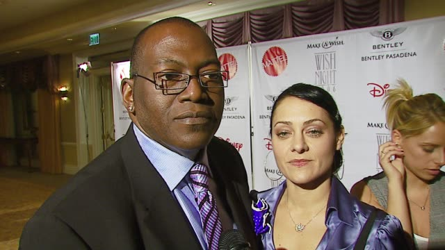 randy jackson on make-a-wish and those who helped him in his own life at the make-a-wish foundation's wish night 2006 at the beverly hills hotel in... - beverly hills hotel stock videos & royalty-free footage