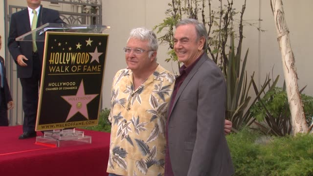 Randy Newman and Neil Diamond at Neil Diamond Honored With Star On The Hollywood Walk Of Fame on 8/10/12 in Hollywood CA