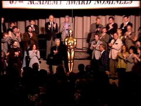 vídeos y material grabado en eventos de stock de randy newman at the 1995 academy awards luncheon at the beverly hilton in beverly hills, california on march 14, 1995. - randy newman