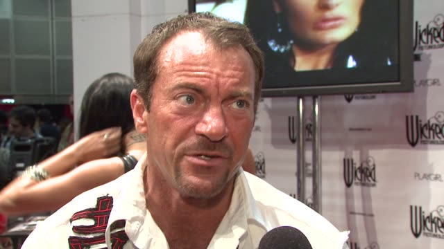 randy spears on the recent hiv scare in the adult film industry and how the media is blowing it out of proportion. at the erotica 2009 at los angeles... - retrovirus video stock e b–roll