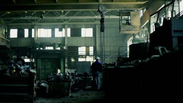 сrane at the factory - steel mill stock videos & royalty-free footage
