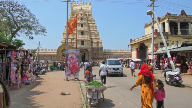 ranganathaswamy temple, srirangapatna - ヒンズー教点の映像素材/bロール