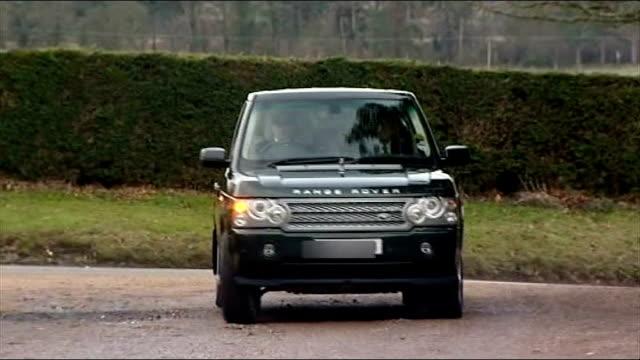 Range Rover unveil environmentally friendly design LIB Sandringham Range Rover driven towards Queen Elizabeth II out of Range Rover vehicle