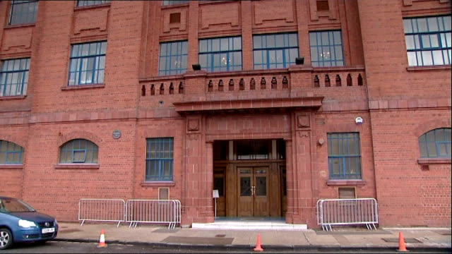rangers football club goes into liquidation date exterior of ibrox stadium rangers football club sign on gates close shot sign and ibrox seen in... - liquidation stock videos and b-roll footage