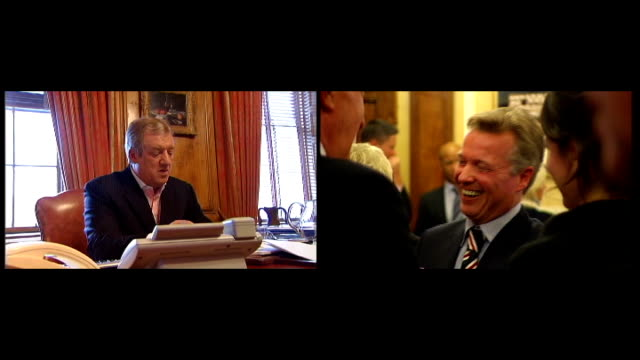 rangers football club goes into liquidation date former rangers owners sir david murray and craig whyte - liquidation stock videos and b-roll footage