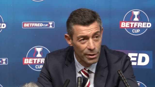 Rangers manager Pedro Caixinha gives a press conference after the 02 Betfred Cup semifinal defeat to Motherwell saying he takes 'full responsibility'...