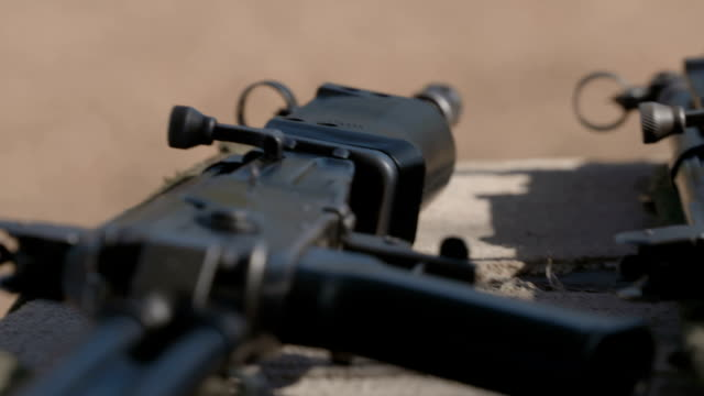 rangers training to combat rhino poaching, south africa - verbrechen stock-videos und b-roll-filmmaterial