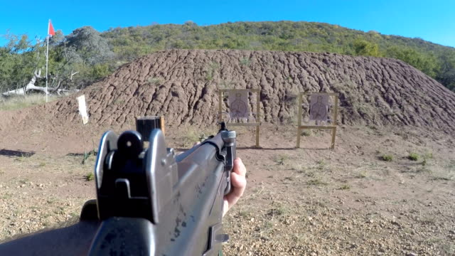rangers training to combat rhino poaching, south africa - military target stock videos & royalty-free footage