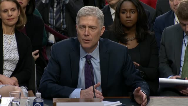 ranking democrat on the senate judiciary committee diane feinstein engages supreme court nominee judge neil gorsuch during the first round of... - senate judiciary committee stock videos & royalty-free footage