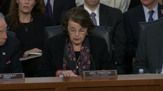 ranking democrat on the senate judiciary committee diane feinstein engages supreme court nominee judge neil gorsuch during the first round of... - waterboarding stock videos & royalty-free footage