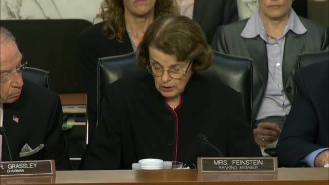 ranking member feinstein questions doj inspector general michael horowitz at the senate judiciary committee in a hearing on the doj and fbi actions... - michael horowitz stock videos & royalty-free footage
