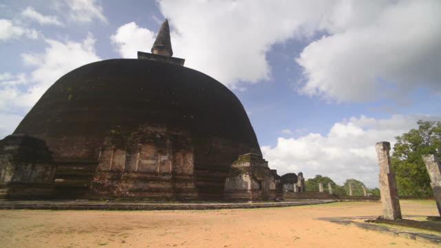 rankot vihara dagoba at the ancient city of polonnaruwa, a unesco world heritage site, sri lanka, asia  - sri lankan culture stock videos & royalty-free footage