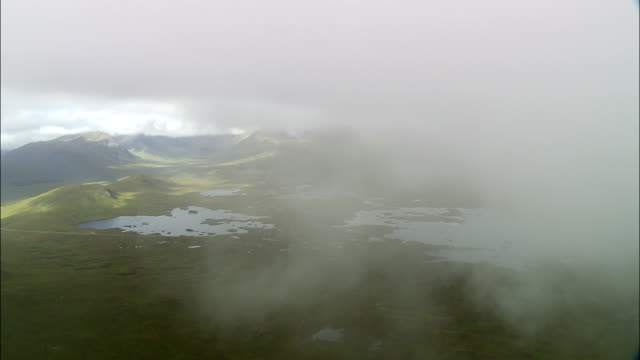 rannoch moor  - aerial view - scotland, united kingdom - scotland stock videos & royalty-free footage