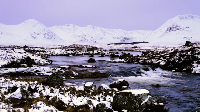 rannoch moor and the black mount in scotland, uk. - 30 seconds or greater stock videos & royalty-free footage