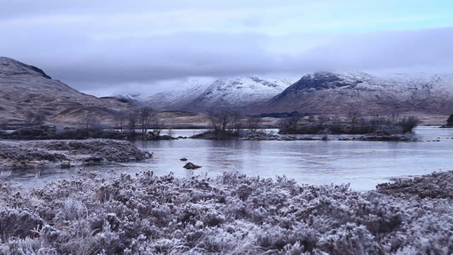Rannoch Moor and the Black Mount in Scotland, UK.
