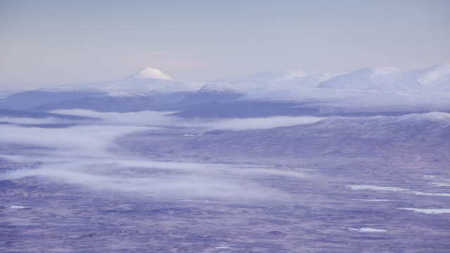 rannoch moor in the highlands of scotland, uk. - frozen stock videos & royalty-free footage