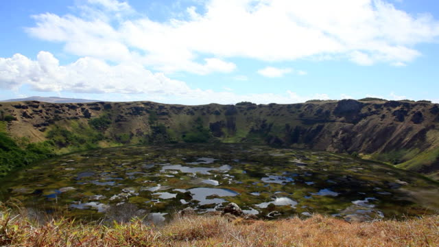 Rano Kau Volcano Crater, Easter Island, Chile