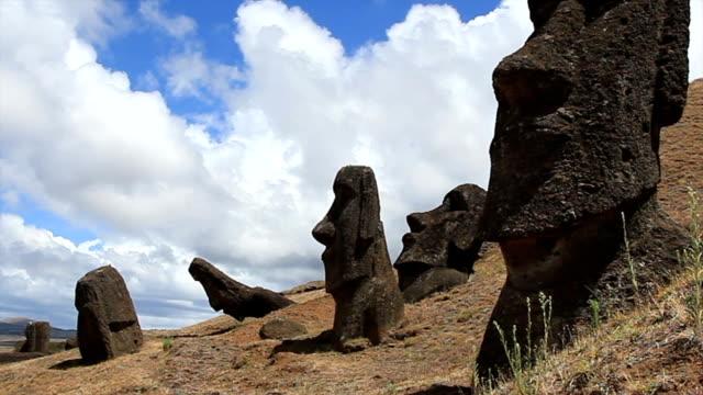 Rano Raraku Moais, Easter Island, Chile