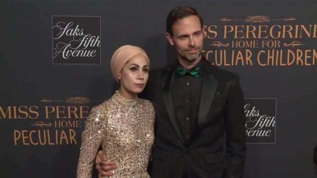 Ransom Riggs and guest at Miss Peregrine's Home For Peculiar Children New York Premiere at Saks Fifth Avenue on September 26 2016 in New York City