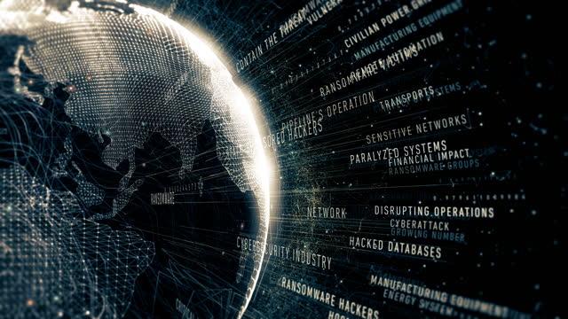 ransomware in kritischen infrastrukturbegriffen - bedrohung stock-videos und b-roll-filmmaterial