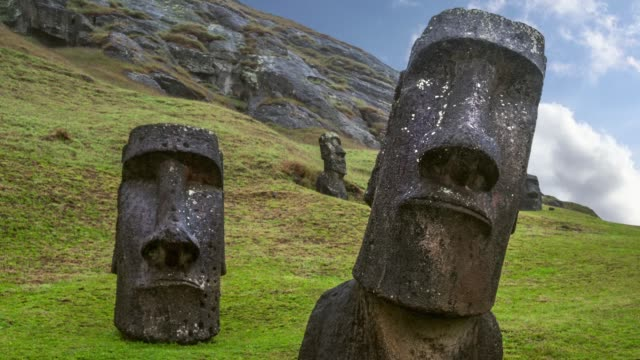 ranu raraku, easter island, chile - history stock videos & royalty-free footage