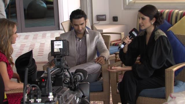 Ranveer Singh and Anushka Sharma at The Ladies vs Ricky Bahl Interview 8th Dubai International Film Festival 2011 UAE on December 8th 2011