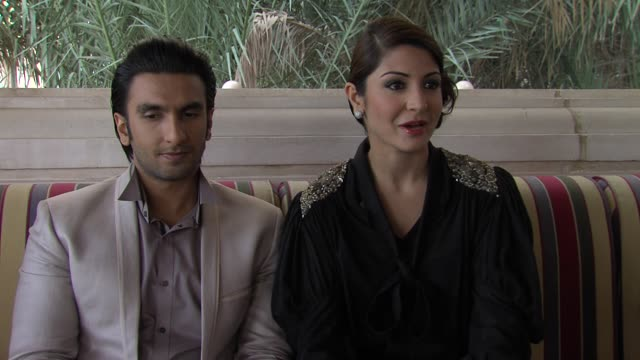 Ranveer Singh and Anushka Sharma on first impressions after seeing the script at The Ladies vs Ricky Bahl Interview 8th Dubai International Film...