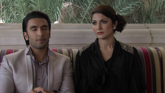 Ranveer Singh and Anushka Sharma on traditional Bollywood films The Ladies vs Ricky Bahl Interview 8th Dubai International Film Festival 2011 UAE on...