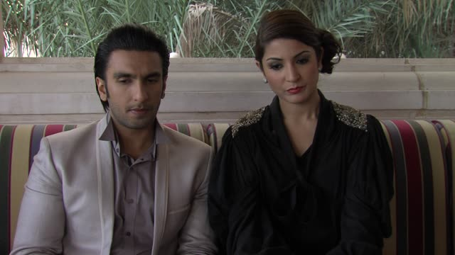 ranveer singh on breaking into bollywood and his success the ladies vs ricky bahl interview 8th dubai international film festival 2011 uae on... - interview stock videos & royalty-free footage
