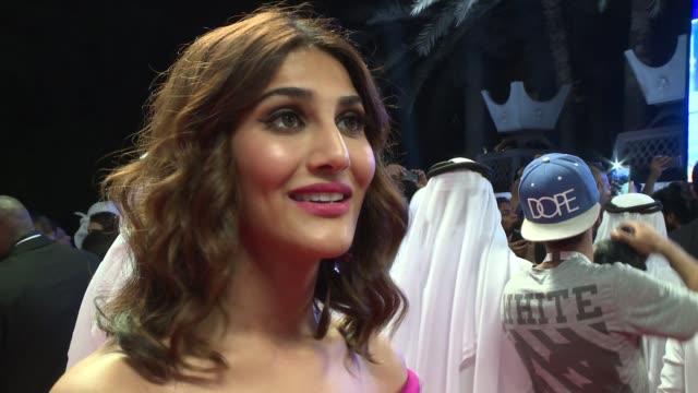 interview ranveer singh on his new film at 2016 dubai international film festival day 2 at madinat jumeirah on december 8 2016 in dubai united arab... - 2日目点の映像素材/bロール
