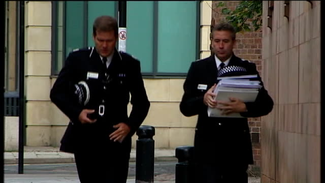 police justify use of taser shotgun; newcastle-upon-tyne: newcastle crown court: assistant chief constable steve ashman along to court - moat stock videos & royalty-free footage