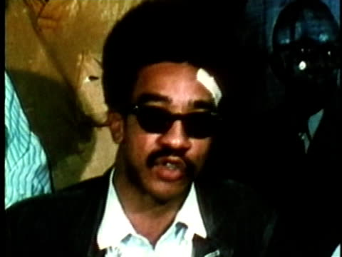 h rap brown activist and member of the black panther party speaking about the use of violence and violence being 'as american as cherry pie'/ usa/... - aktivist stock-videos und b-roll-filmmaterial