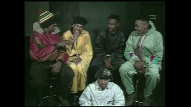 Rap group Leaders of The New School Busta Rhymes Dinco D Milo and Charlie Brown