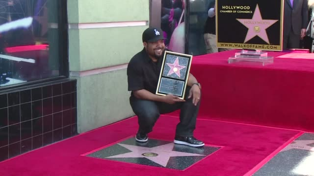 stockvideo's en b-roll-footage met rap legend ice cube gets a star on the hollywood walk of fame in los angeles - fame