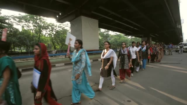 rape victim protest takes place in kolkata on june 18 2013 in kolkata india - sexual violence stock videos and b-roll footage