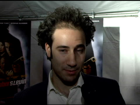 Raphael Marmor Producer of 'Blueblood' discussing his new movie showing at the Tribeca Film Festival at the 'Lucky Number Slevin' New York Premiere...