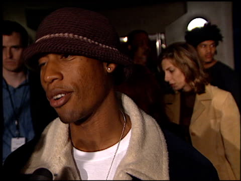 raphael saadiq at the playstation 2 grammy party at pacific design center in west hollywood california on february 25 2002 - raphaël haroche stock videos & royalty-free footage