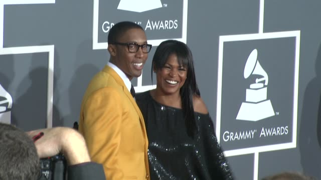 Raphael Saadiq Nia Long at the 51st Annual Grammy Awards Part 4 at Los Angeles CA