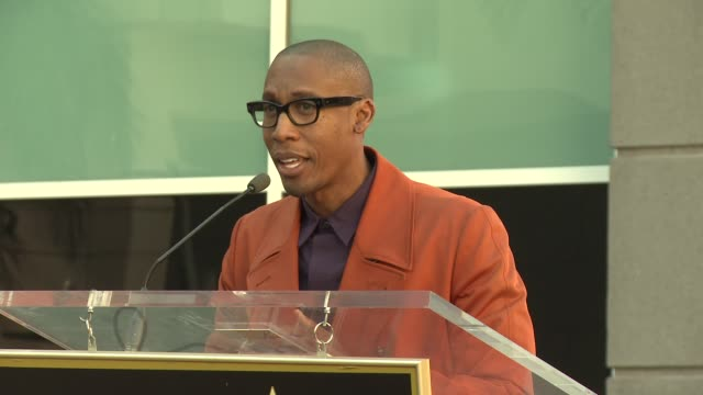 speech – raphael saadiq on knowing and working with jennifer hudson at jennifer hudson honored with star on the hollywood walk of fame - jennifer hudson stock videos & royalty-free footage