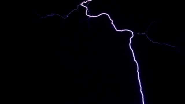 rapid-fire strokes from upper frame - テスラコイル点の映像素材/bロール