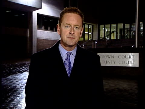 evidence; itn maidstone: at night i/c prison van carrying rape suspect imiela away from court - vangen stock-videos und b-roll-filmmaterial