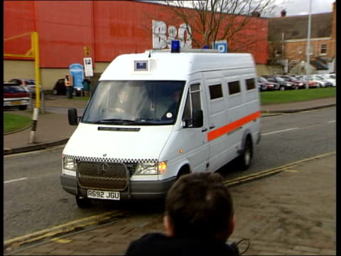 u england kent maidstone police van carrying suspected rapist antoni imiela arriving at court pan - itv lunchtime news stock videos & royalty-free footage