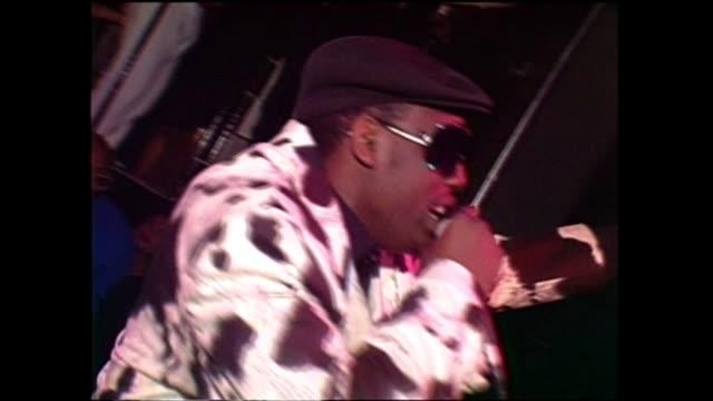 rapper kool moe dee performs at jive records showcase - hip hop stock videos & royalty-free footage