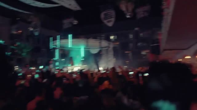 rapper stormzy stops his headline set at #merky festival at ibiza rocks hotel as england scored the winning penalty against colombia in the world cup - stormzy stock videos and b-roll footage