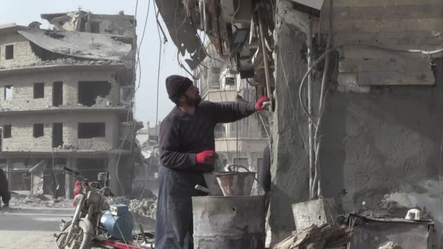 Raqa is still mostly a sinister ghost town of gutted buildings and rubble strewn streets but there is one place teeming with activity in the Syrian...