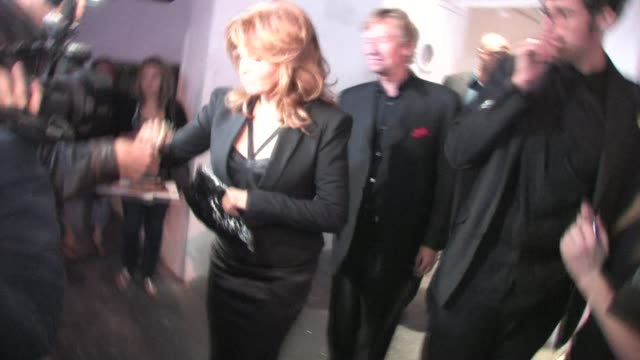 Raquel Welch and Nigel Lythgoe leaving Sky Bar in West Hollywood at the Celebrity Sightings in Los Angeles at Los Angeles CA