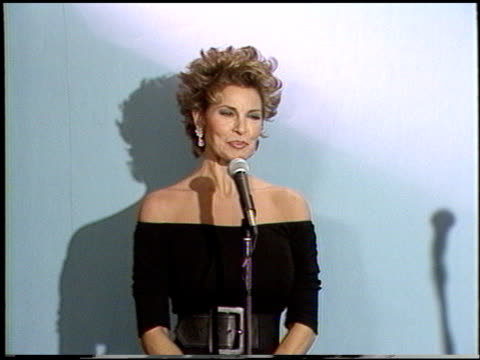 Raquel Welch at the 1987 Emmy Awards Inside at the Pasadena Civic Auditorium in Pasadena California on September 20 1987