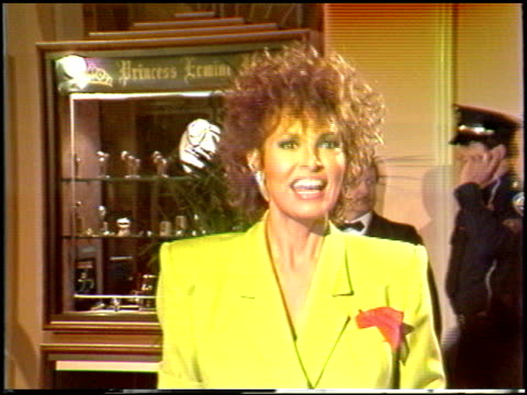 raquel welch at the 1988 golden globe awards at the beverly hilton in beverly hills california on january 23 1988 - raquel welch stock videos & royalty-free footage